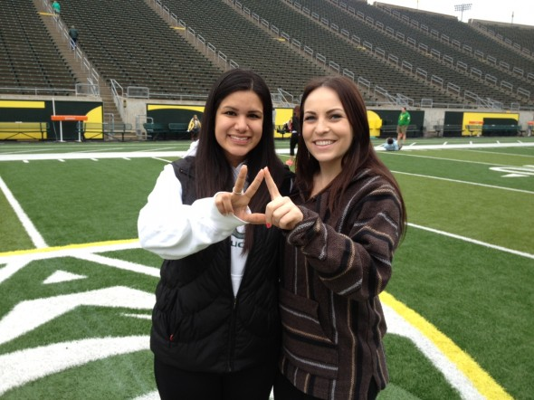 Throwing what we know while getting the inside tour of Autzen Stadium. TSM.