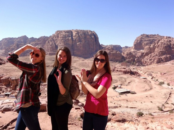 Throwing what you know in Petra, Jordan. TSM.