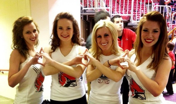 Current and former BSU Code Red Dancers & AOIIs throwing what we know at the alumni game. TSM.