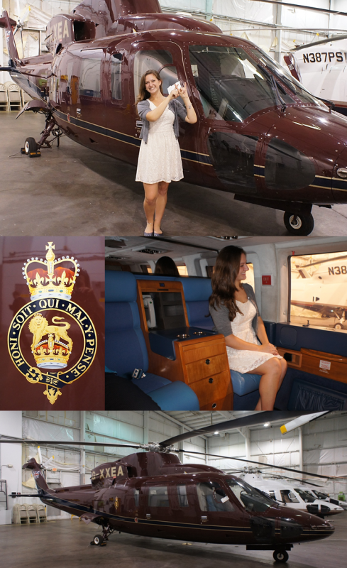 Just throwing what I know with the Queen of England's helicopter. TSM.