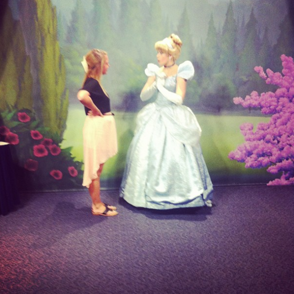 Cinderella asking me tips on how to get along with sisters because I got along with my sorority sisters so well. TSM.