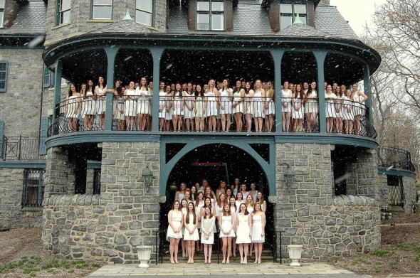A little snow storm couldn't stop our initiation. TSM.
