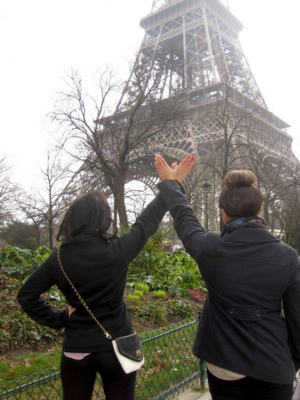 Throwing what you know at the Eiffel Tower. TSM.