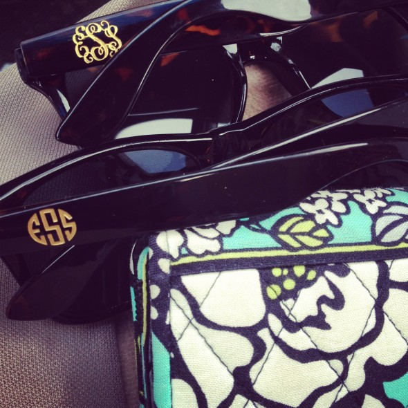 Even my sunglasses are monogrammed. TSM.