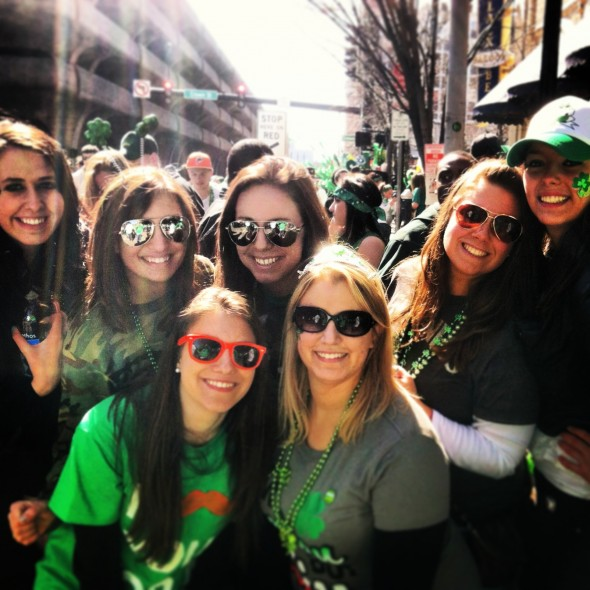 Sister loving at the St. Patty's day parade! TSM.