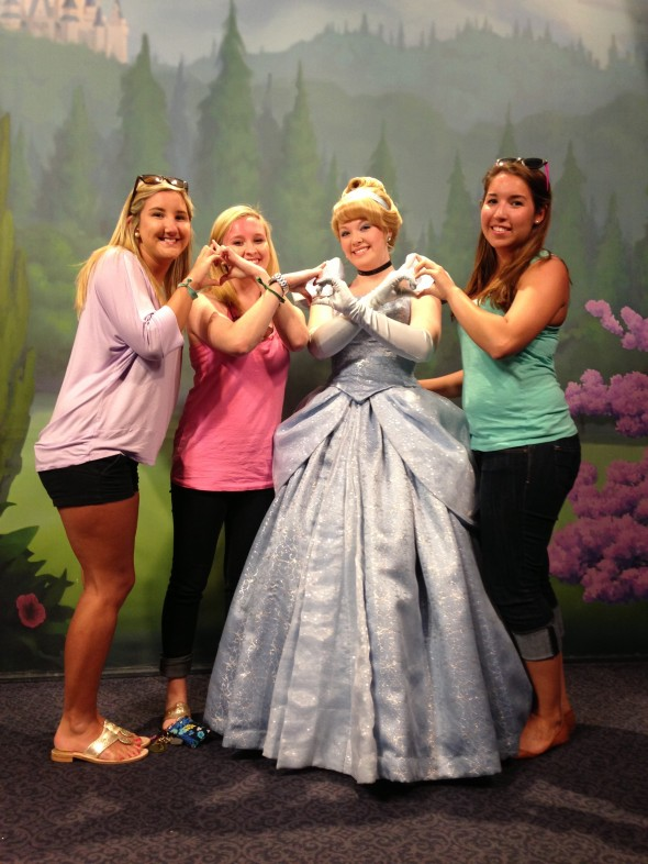 Spending our spring break throwing what we know with the true princess, Cinderella. TSM.