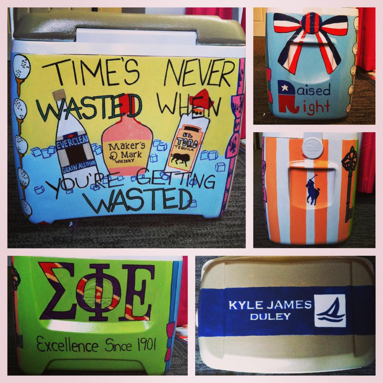 Diy Painted Cooler : Total sorority move western michigan university