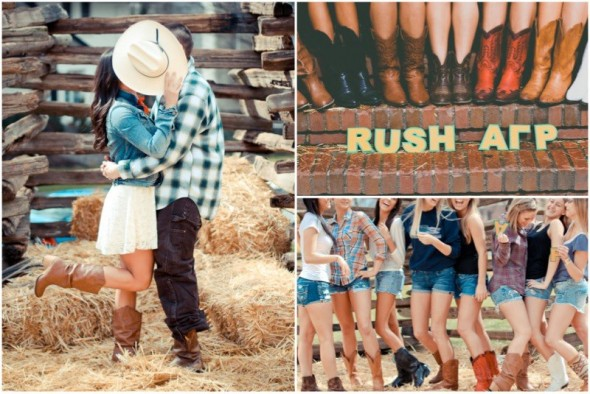 Winning the neighbor fraternity's philanthropy in daisy dukes and cowboy boots. TSM.