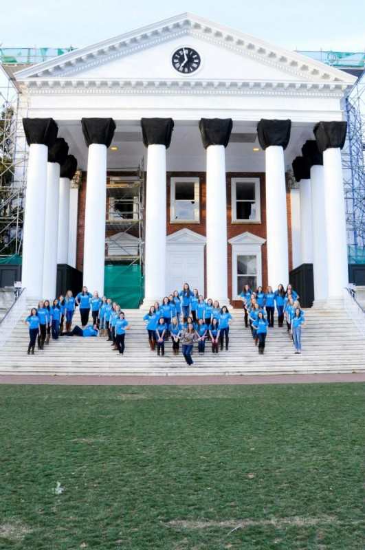 Covering the Rotunda steps with our babies in the shape of our letters. TSM.
