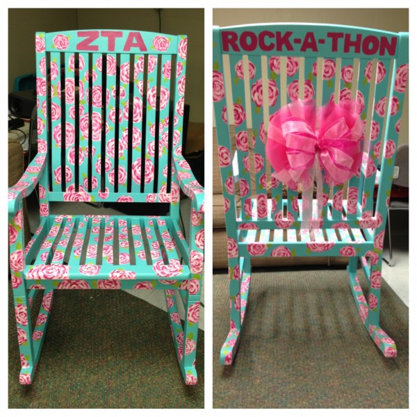Your sorority decorating the most TSM rocking chair for Mizzou's largest philanthropy, AEPi Rock-A-Thon. TSM.