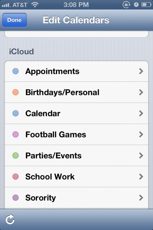 The fact that your iphone has a sorority category in your calendar. TSM.