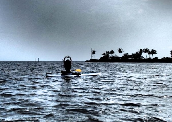 Throw what you know on a paddle board off the coast of Key Largo. TSM.