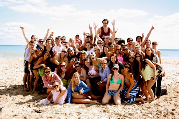 Beach day with our favorite frat. TSM.