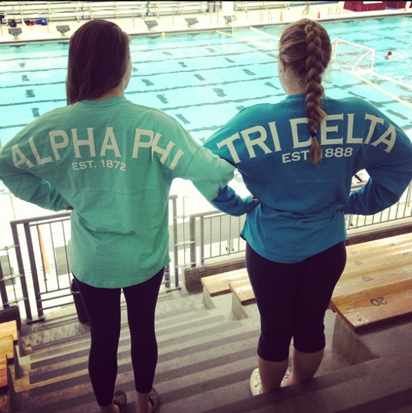We might wear different letters but we still play for the same nationally ranked water polo team. TSM.