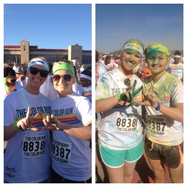 Throwing what we know before and after The Color Run. TSM.