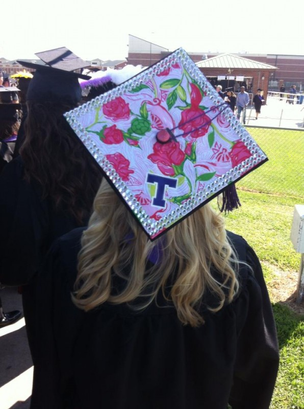 For graduation. TSM.