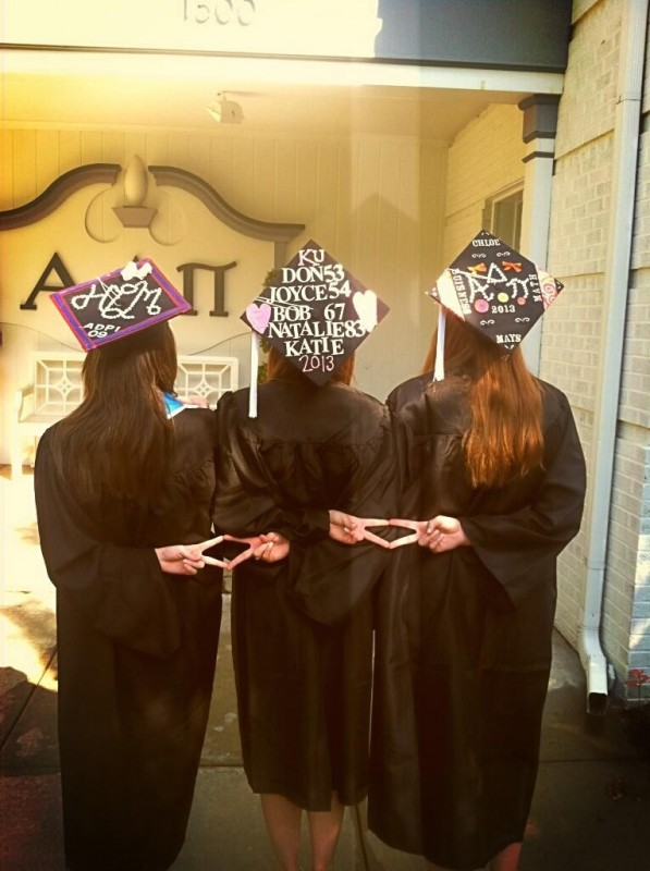 Throwing what we know at graduation. TSM.