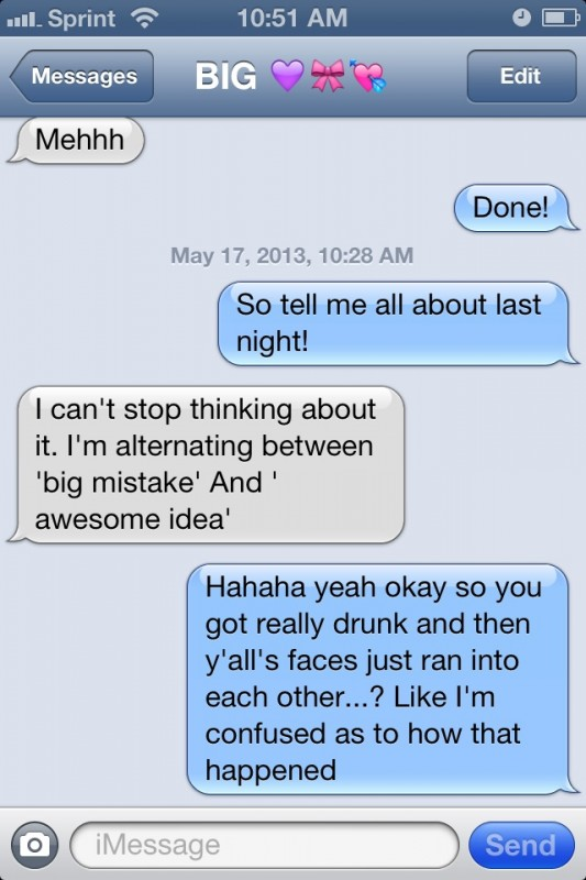 Alternating between 'big mistake' and 'awesome idea.' TSM.