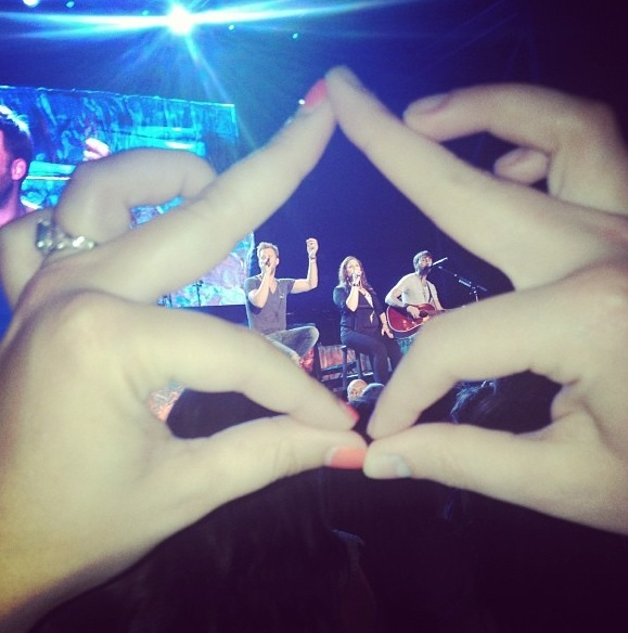 Throwing what you know with Lady Antebellum. TSM.