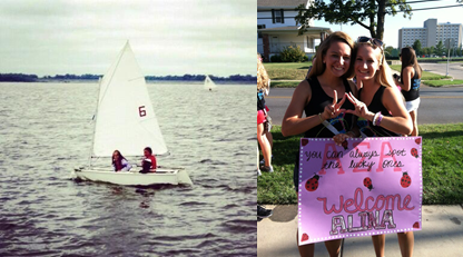 From sailing in our first of many regattas together to becoming sisters. TSM.