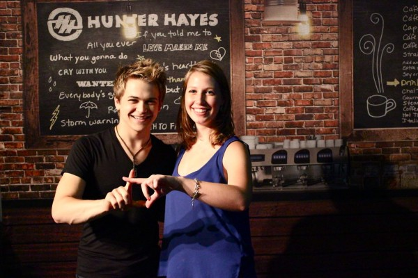 Throwing what you know with Hunter Hayes. TSM.