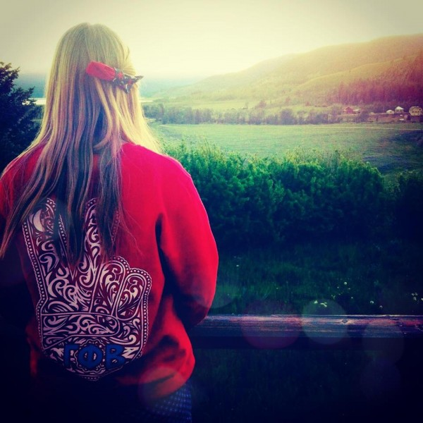 Gamma Phi Beta, bows, and big sky country. TSM.