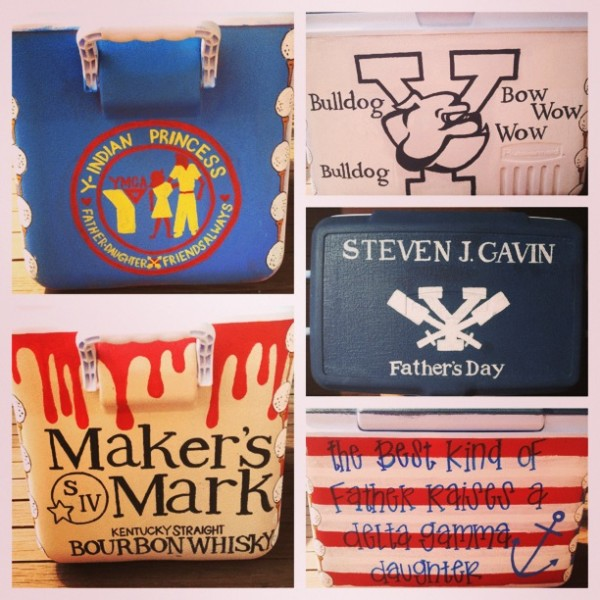 Didn't know what to get Dad for Father's Day so I painted him a cooler. TSM.