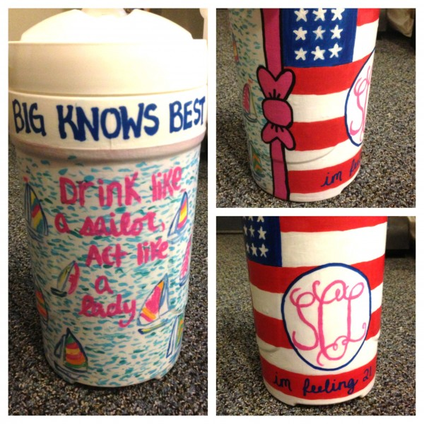 Making my big the perfect cooler for her birthday. TSM.