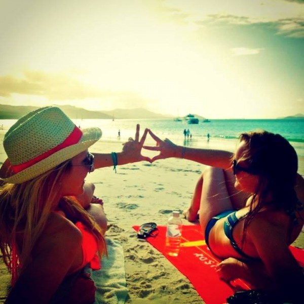 Sun, sand, and sisters. That's all you really need. TSM.