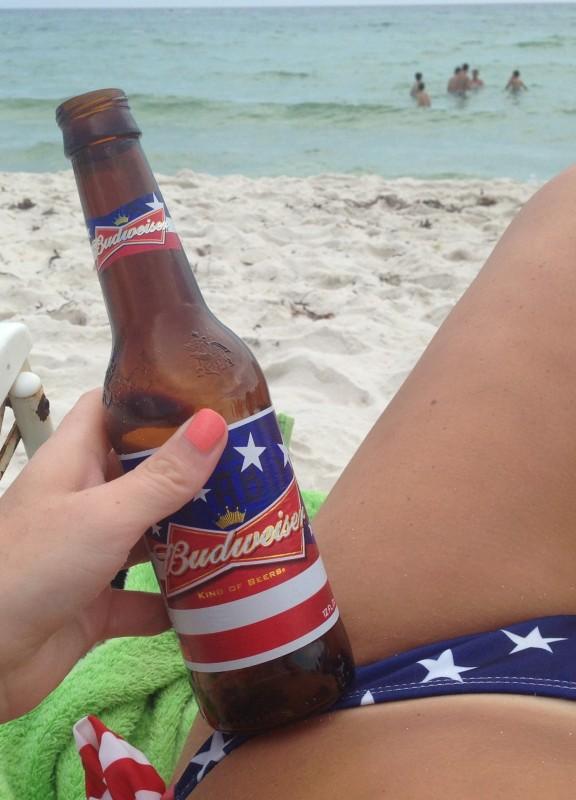 My beer and my bikini matching. TSM.