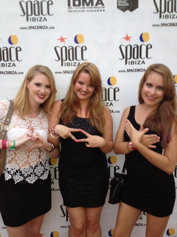 Sorority girls hit the #1 club in the world, SPACE in Ibiza, Spain! TSM.