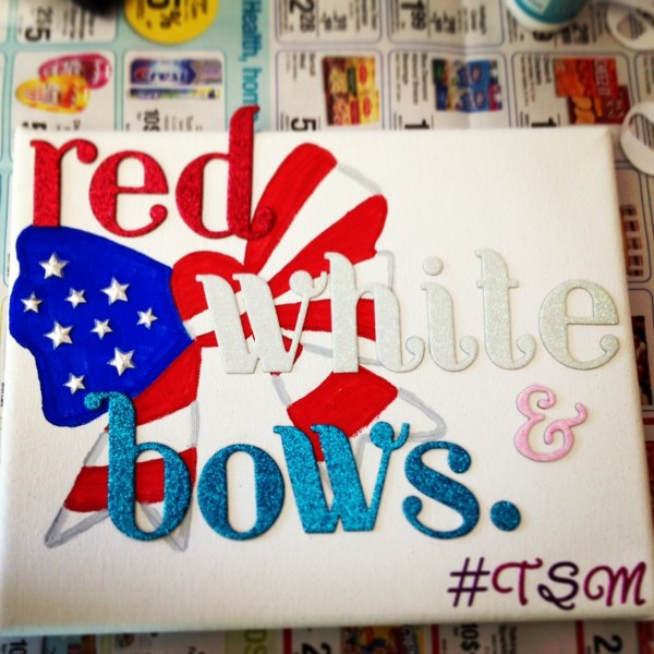 Red, white, and bows. TSM.