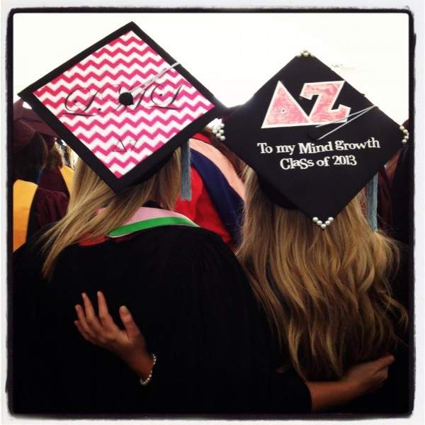 Monograms and letters on graduation. TSM.