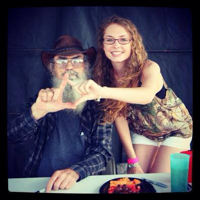 Reppin Chi Omega with Si from Duck Dynasty. TSM.