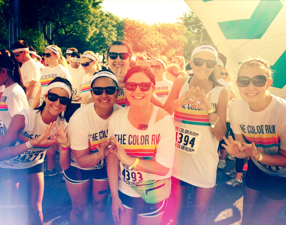 Throwing what you know before the Color Run Chicago. TSM.