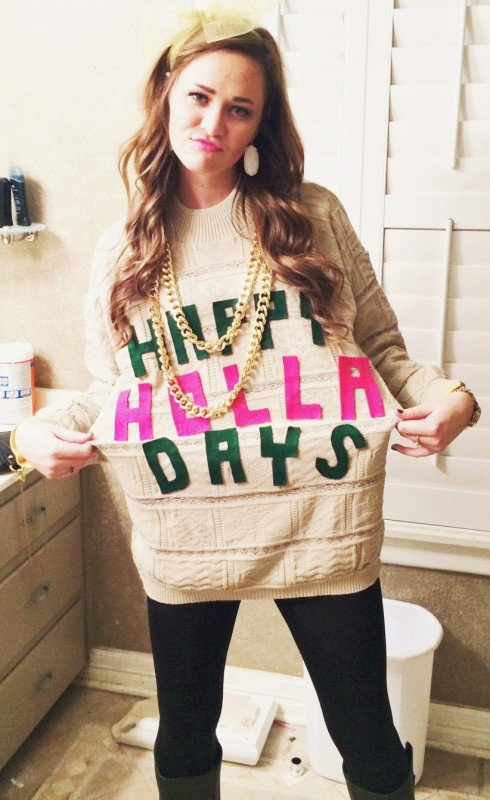 ecff866f3ab4e55e7b193367dd0992cb983140874 crafting your own tacky christmas sweater tsm southernaxidoll - Homemade Tacky Christmas Sweaters