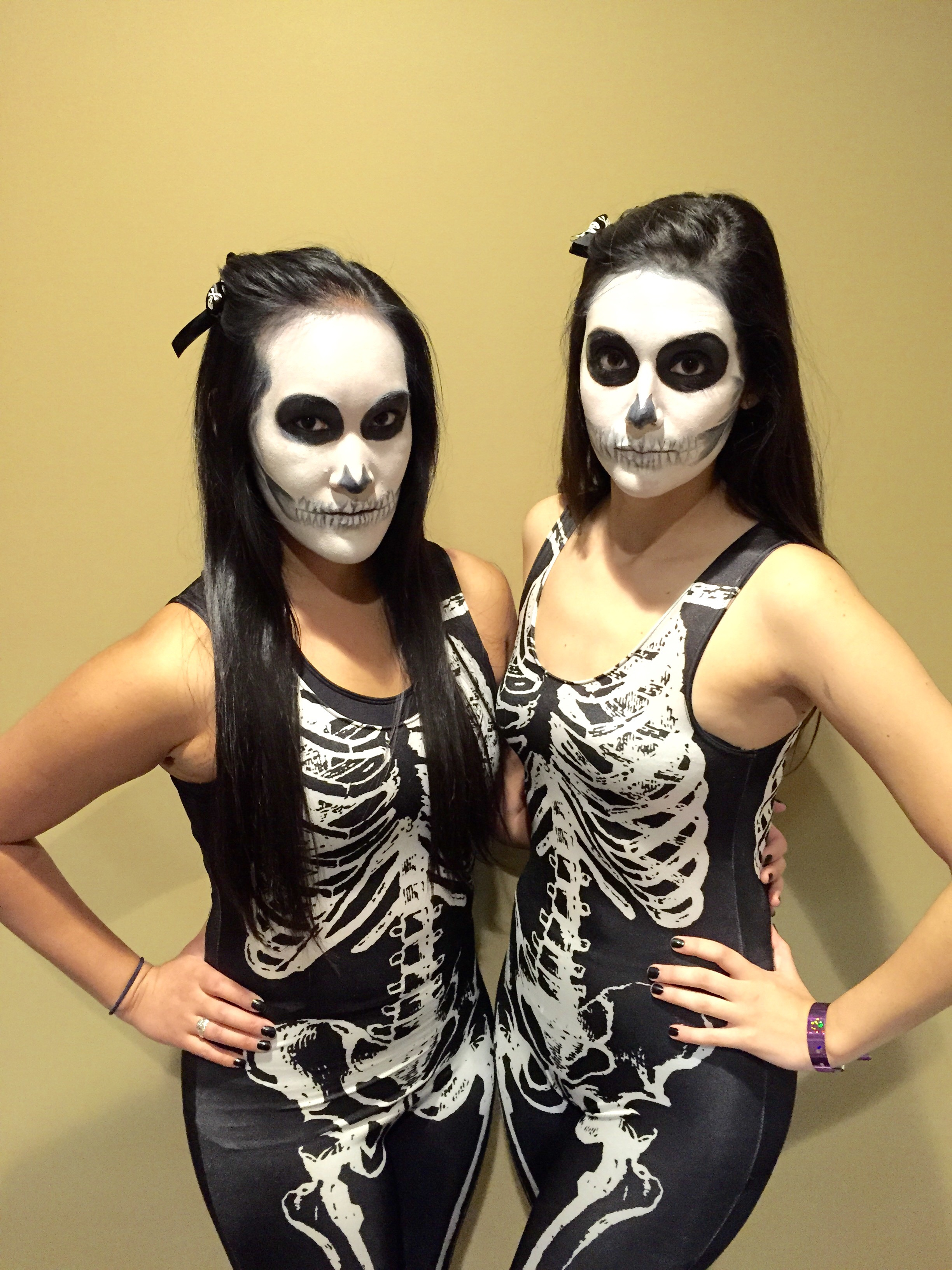 Halloween Hair and Makeup - Skeletons