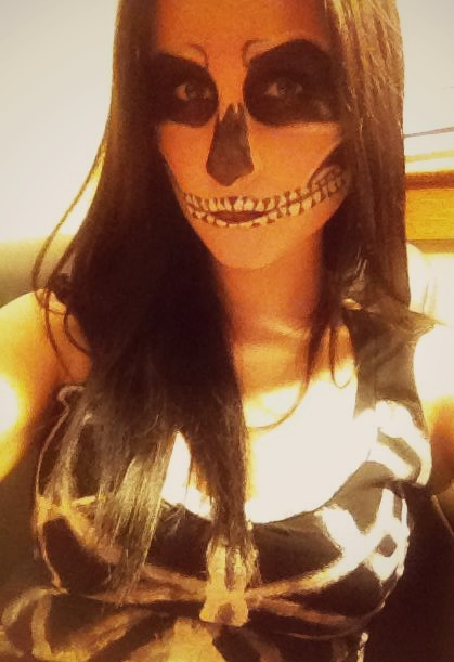 Halloween Hair and Makeup - Skeleton