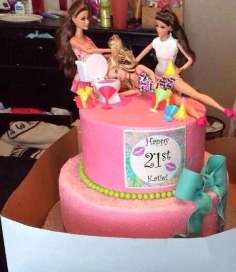 Total Sorority Move Professional Barbie Cakes Tsm