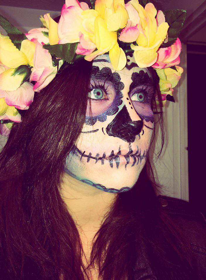 Halloween Hair and Makeup - Sugar Skull