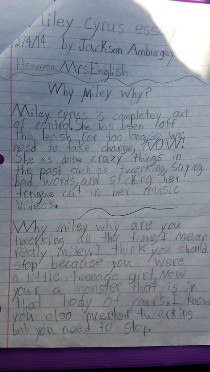 Letter To Miley