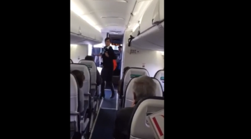 Flight Attendant Dancing To Uptown Funk