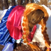 "You Can't Not See This Goat Dressed Up As Anna From ""Frozen"""
