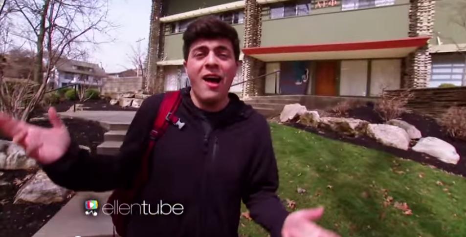 Watch These AEPhis Go Crazy Over Ellen's Assistant