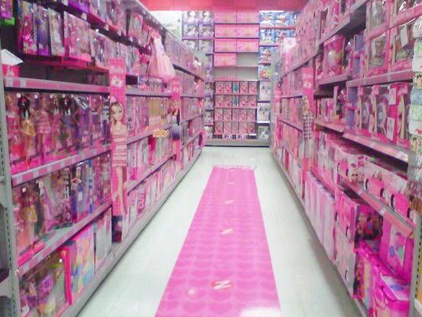 Boys Toy Store Aisle : Total sorority move the pink aisle at toy stores is