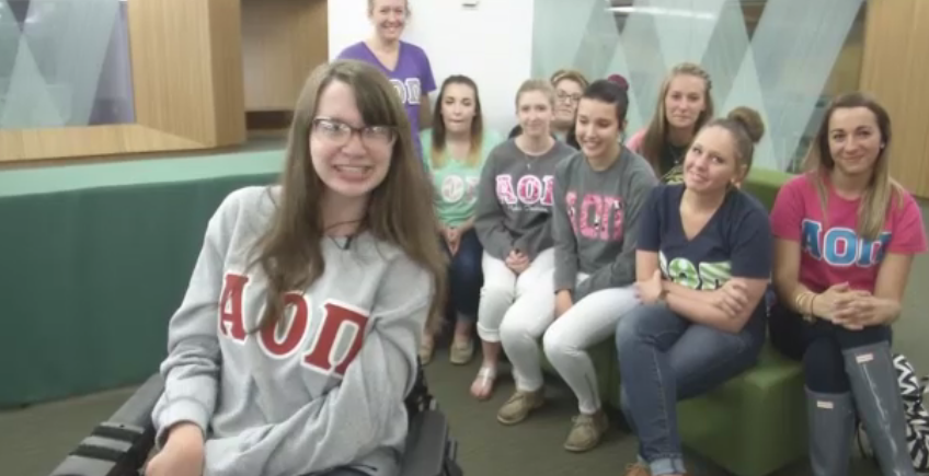 AOII At Wright State Welcomes New Member With Cerebral Palsy