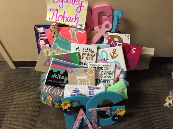 sorority big little painted canvas