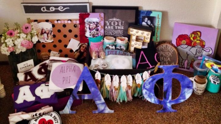 sorority big little craft ideas total sorority move what should i put in my sorority big 7166