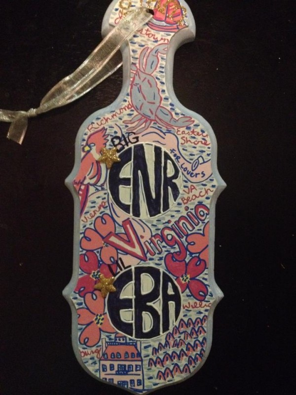 Lilly print sorority paddle
