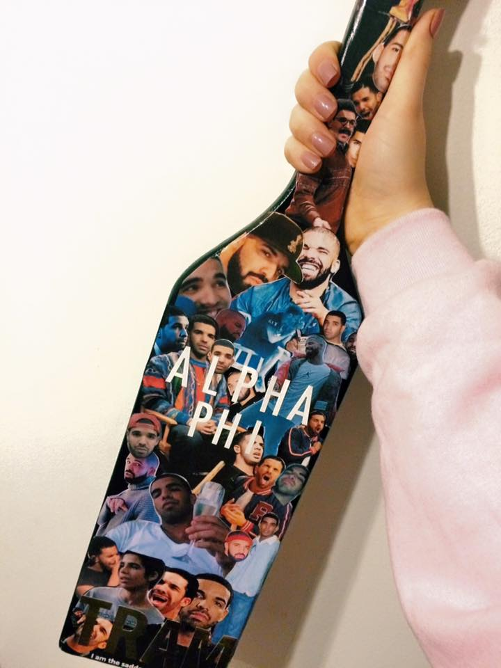 Drake sorority paddle
